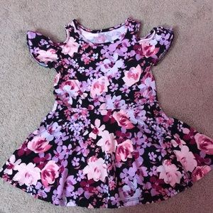 2T pink and purple shortsleeved dress